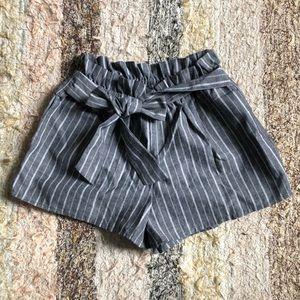 Cute blue white striped shorts